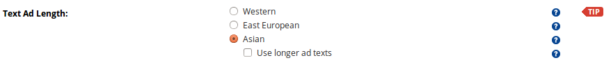 Text Ad length