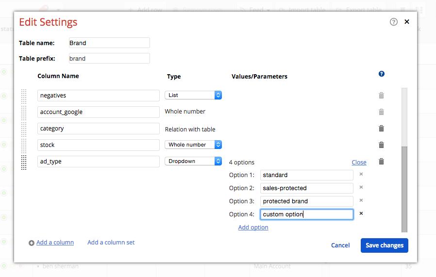 Create a custom ad type